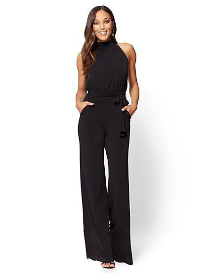 Mock-Neck Jumpsuit - Floral  - New York & Company