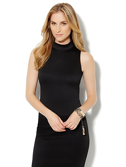 Mock-Neck Knit Top - New York & Company