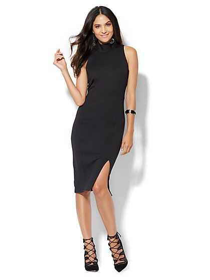 Mock-Neck Sheath Dress - New York & Company