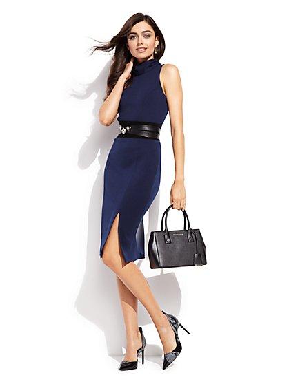 Mock-Neck Sheath Dress - New York & Company