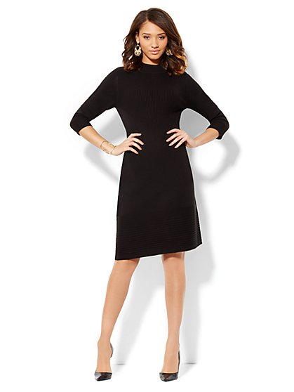 Mock-Neck Sweater Dress - New York & Company