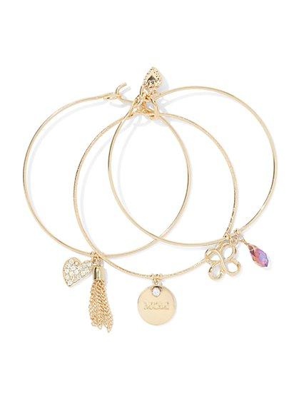 Mother's Day Charm Bangle Bracelet Set  - New York & Company