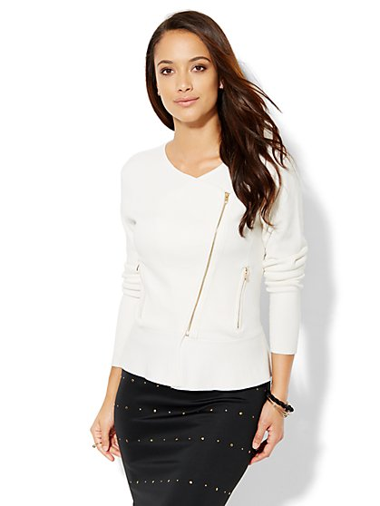 Moto Peplum Top  - New York & Company