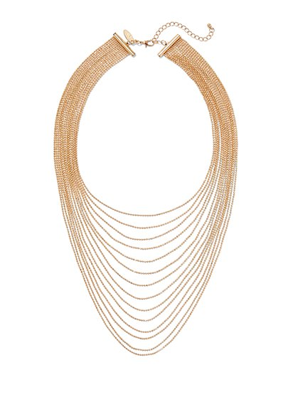 Multi-Layered Beaded Necklace  - New York & Company