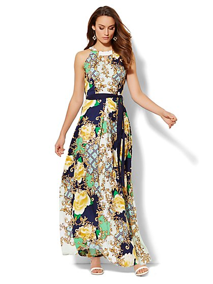 Multi-Print Maxi Dress - New York & Company