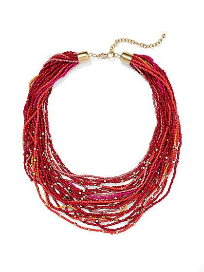 Multi-Row Beaded Necklace  - New York & Company