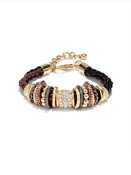 Multi-Row Braided Bracelet  - New York & Company