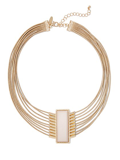Multi-Row Collar Necklace  - New York & Company