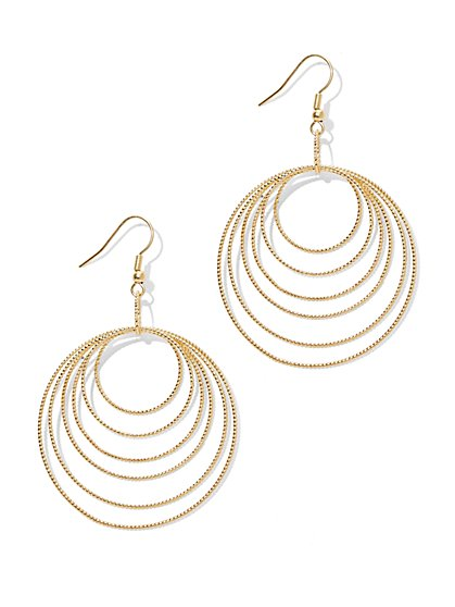 Multi-Row Sphere Hoop Earrings  - New York & Company