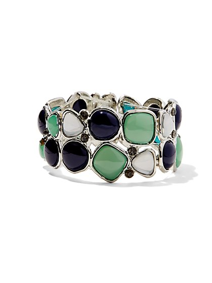 Multi-Stone Stretch Bracelet  - New York & Company