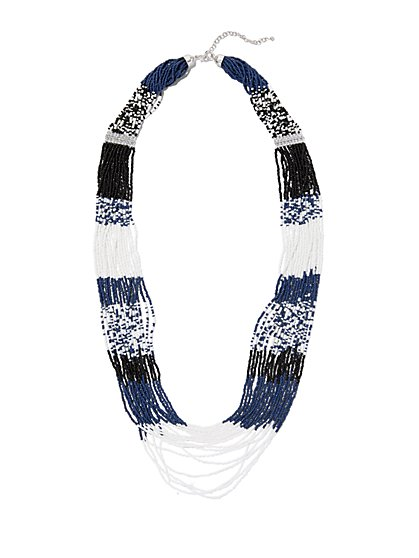 Multi-Strand Beaded Necklace  - New York & Company