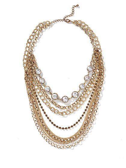 Multi-Strand Links Necklace - New York & Company