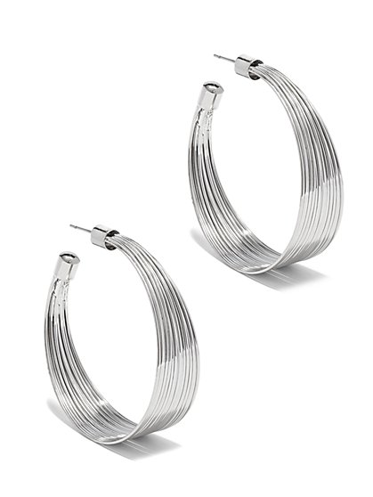 Multi-Wire Hoop Earring  - New York & Company
