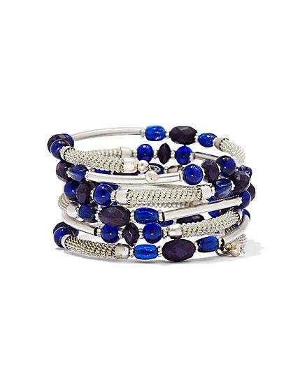 Multibead Mesh Coil Bracelet  - New York & Company