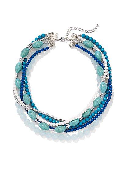 Multibeaded 6-Row Necklace   - New York & Company