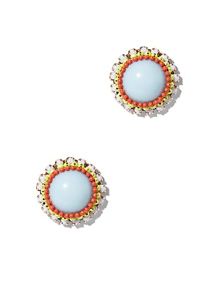 Multicolor Beaded Earring   - New York & Company