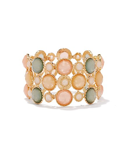 Multicolor Stones Stretch Bracelet - New York & Company