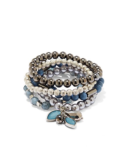 Multistrand Stretch Charm Bracelet  - New York & Company