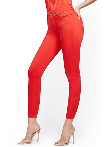 Mya Curvy High-Waisted Sculpting No Gap Super-Skinny Ankle Jeans - New York & Company