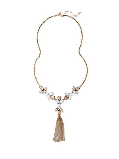 NY Accents - Beaded Cluster Tassel Necklace - New York & Company