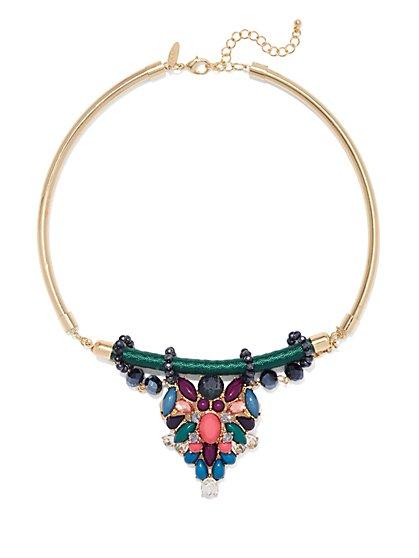 NY Accents - Beaded Collar Pendant Necklace  - New York & Company