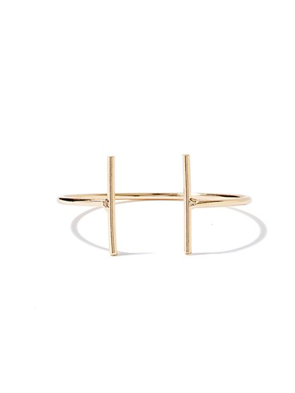 NY Accents - Double-Bar Cuff Bracelet - New York & Company
