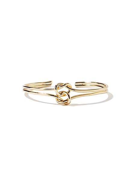 NY Accents - Double-Knot Cuff Bracelet  - New York & Company