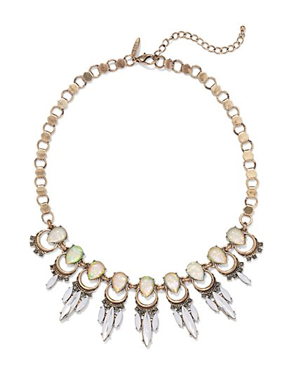 NY Accents - Faux-Opal Necklace  - New York & Company