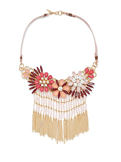 NY Accents - Floral Tassel Necklace  - New York & Company