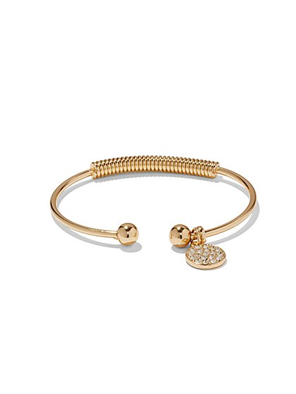 NY Accents - Glitter Coin Cuff Bracelet  - New York & Company