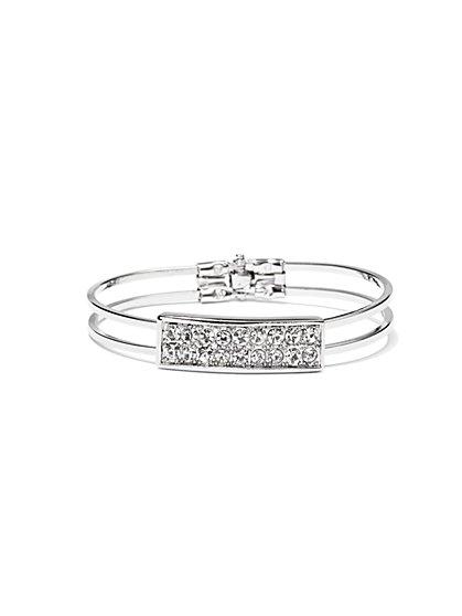 NY Accents - Glittering ID Hinge Bracelet  - New York & Company