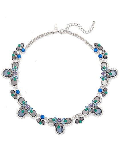 NY Accents - Multi-Colored Cluster Bib Necklace  - New York & Company