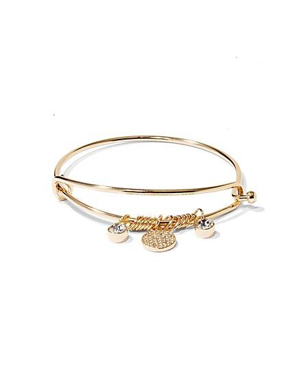 NY Accents - Pavé Charms Bracelet  - New York & Company