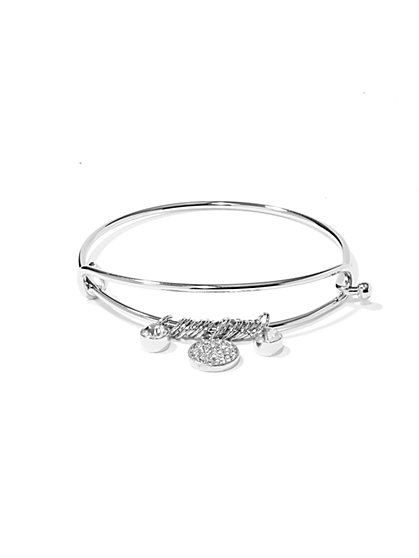 NY Accents - Pavé Charms Bracelet  - New York & Company