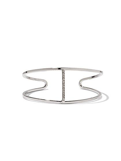 NY Accents - Pavé Linear Cuff Bracelet - New York & Company