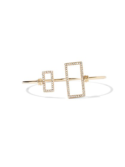 NY Accents - Pavé Rectangle Cuff Bracelet  - New York & Company