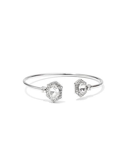 NY Accents - Pavé & Stone Cuff Bracelet  - New York & Company