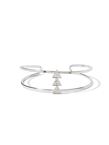 NY Accents - Pavé Triangle Cuff Bracelet - New York & Company