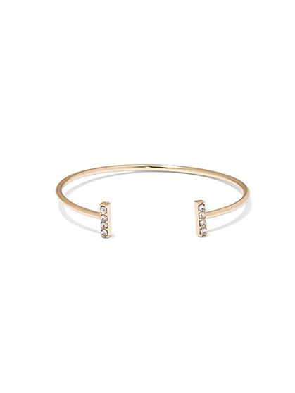 NY Accents - Sparkling Bar Cuff Bracelet  - New York & Company
