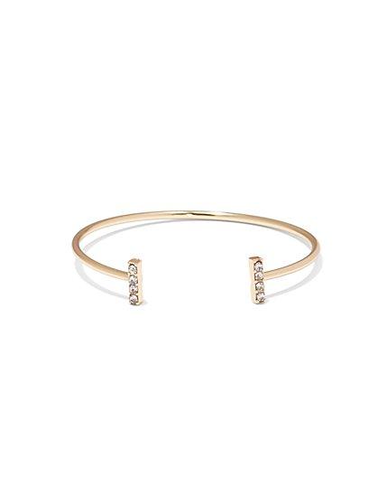 NY Accents - Sparkling Bar Cuff Bracelet  - New York & Company