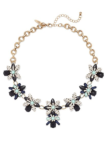 NY Accents - Sparkling Floral Bib Necklace  - New York & Company