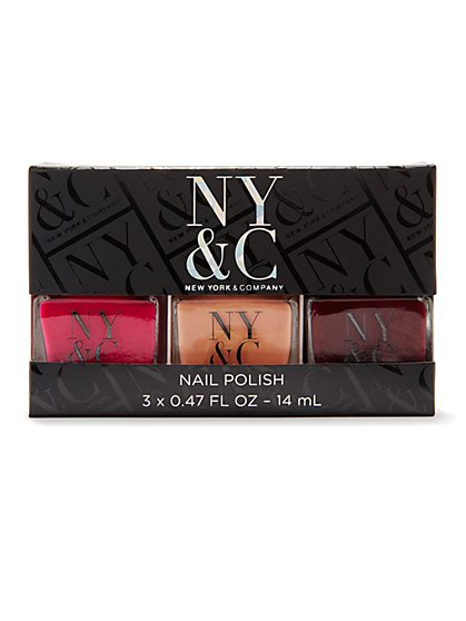 NY&C Beauty - Nail Polish - Set of Three - New York & Company