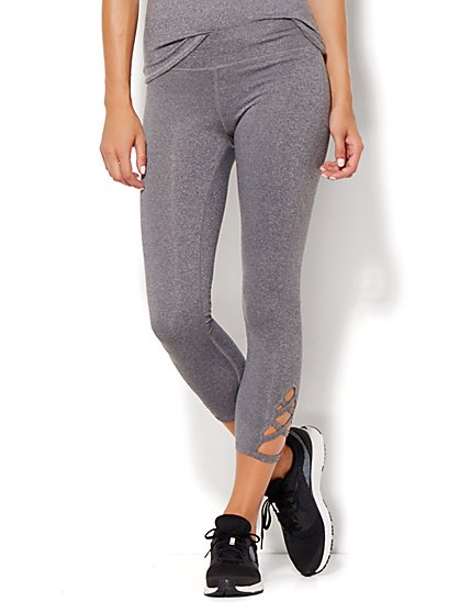 NY&C Velocity - Criss-Cross Crop Legging - New York & Company