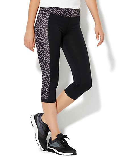 NY&C Velocity - Crop Legging - Leopard Print  - New York & Company