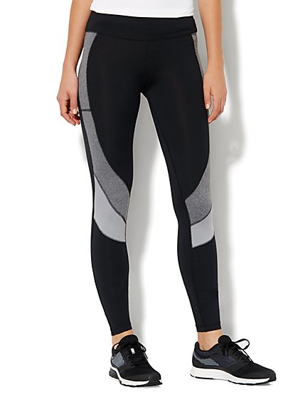 NY&C Velocity - Legging - Black & Grey - New York & Company