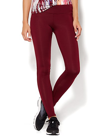 NY&C Velocity - Legging - Burgundy Spice - New York & Company