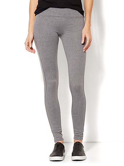 NY&C Velocity - Legging - Heathered Grey  - New York & Company