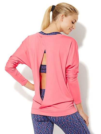 NY&C Velocity - Open-Back Dolman Top  - New York & Company