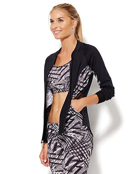 NY&C Velocity - Printed Zip-Up Jacket - New York & Company