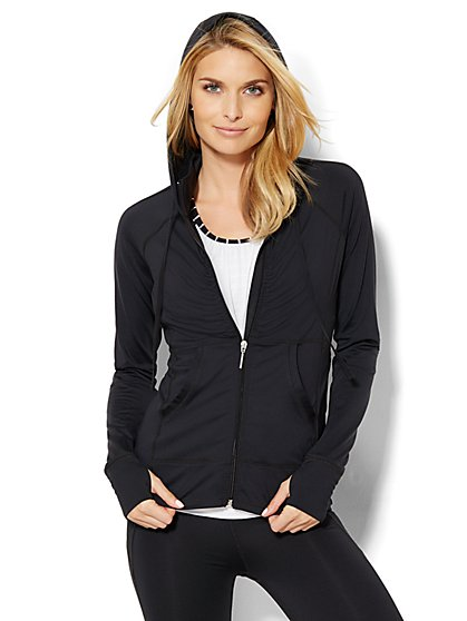 NY&C Velocity - Shirred Hooded Jacket  - New York & Company
